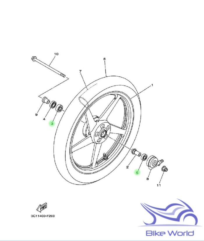 harga Bearing / laher roda depan 6201 6301 vixion 2007-2012 yamaha genuine Tokopedia.com