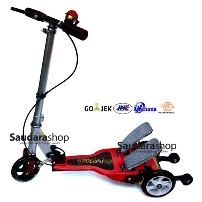 harga Vita skuter anak dua pedal besi / scooter dual pedal / otopet merah Tokopedia.com