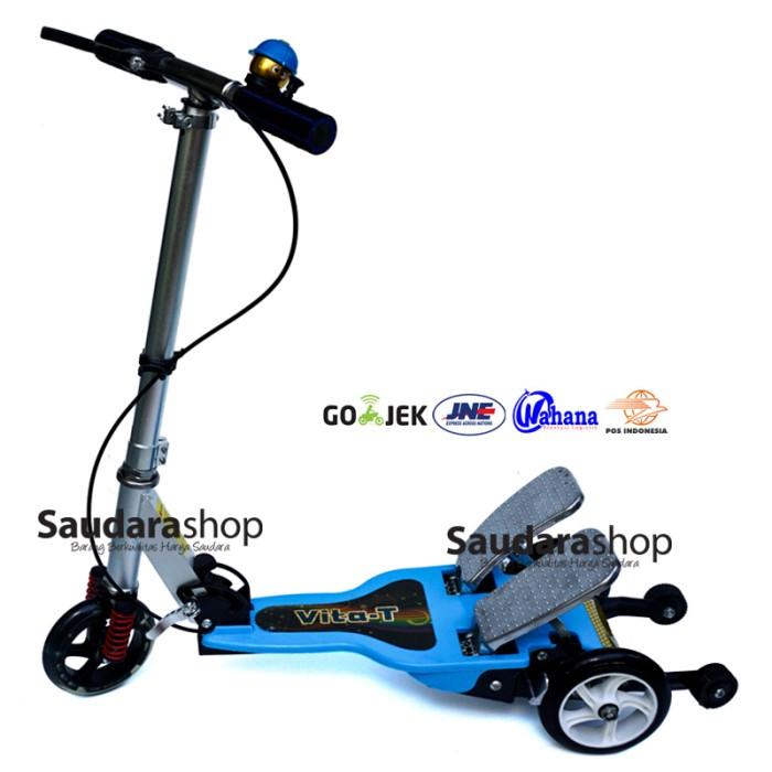 harga Vita skuter anak dua pedal besi / scooter dual pedal / otopet biru Tokopedia.com