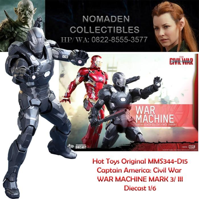 HOT TOYS MMS-344-D15 CIVIL WAR - WAR MACHINE MARK 3/ III 1/6 DIECAST