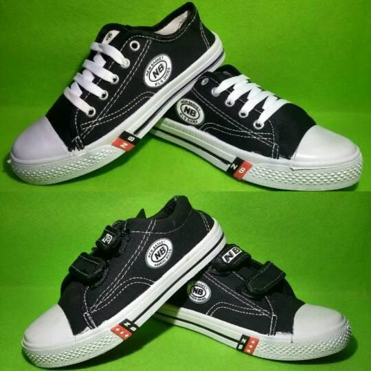 Jual sepatu anak sekolah nb hitam cek harga di PriceArea.com