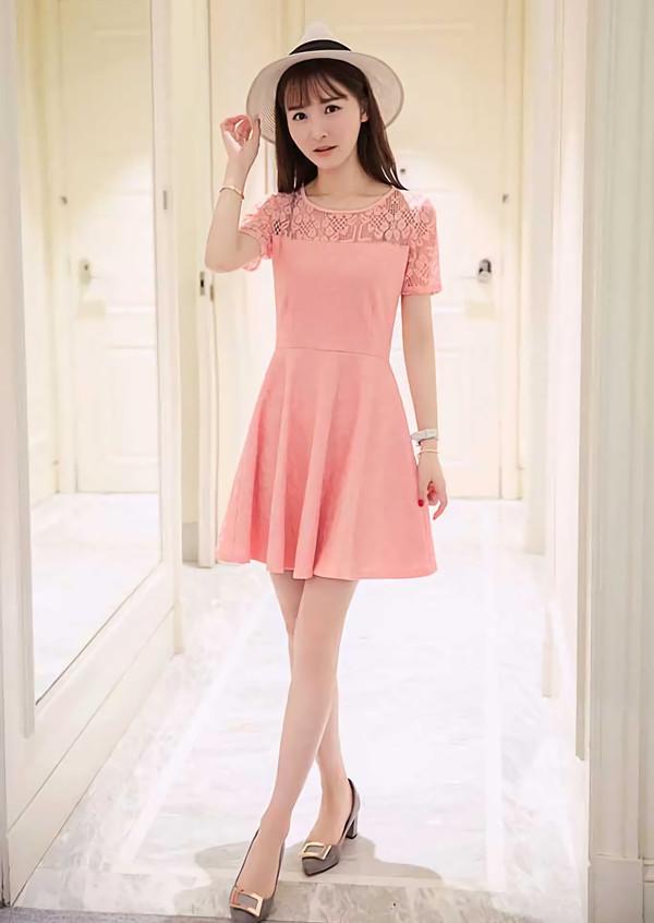 Jual Dress Brokat Instagram Model Lengan Pendek - butik baju dress ... e591c1348f