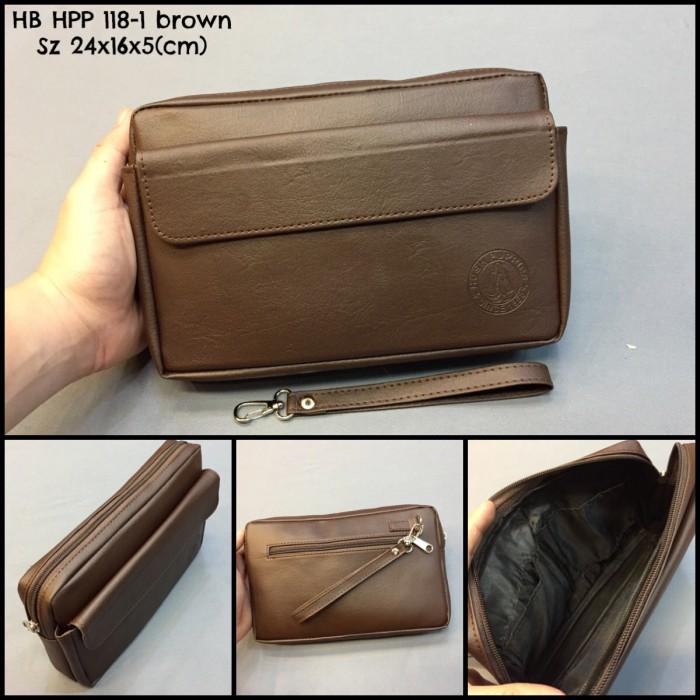 Jual Clutch Cowok Hush Puppies 118-1 brown premium dompet cowok tas ... f189f09651