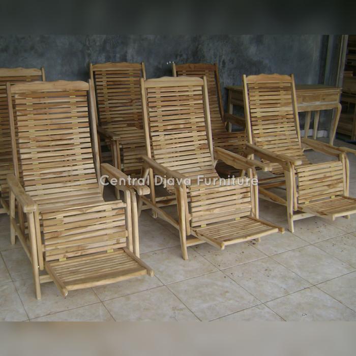 harga Kursi santai kayu jati multifungsi mentah / kursi malas furniture Tokopedia.com