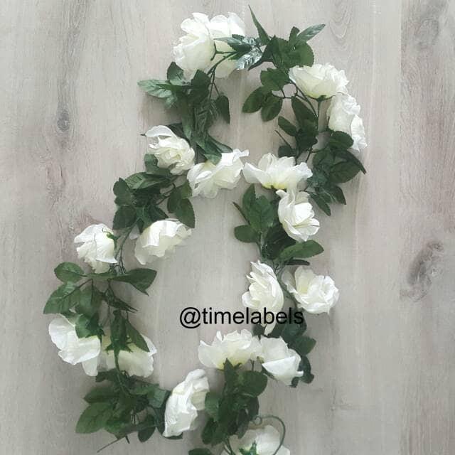 jual dekorasi bunga mawar sulur artificial / tanaman rambat gantung