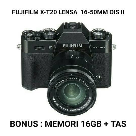 harga Fujifilm x-t20 lensa 16-50mm ois ii Tokopedia.com