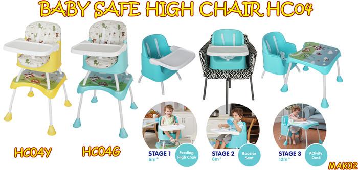 harga Mak02 baby safe high chair hc04 kursi makan anak meja anak Tokopedia.com