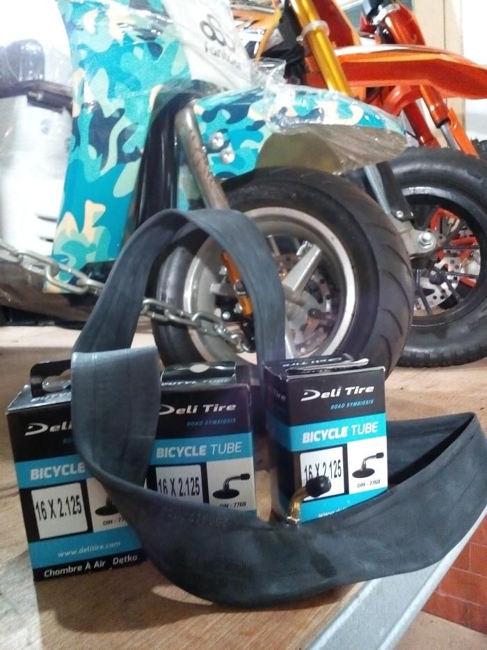 harga Ban dalam sepeda listrik,sepeda lipat,pentil bengkok,ukuran 16x2.125 Tokopedia.com