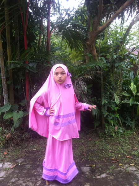 harga Baju gamis anak sd jersey super / baju lebaran anak / baju muslim syar Tokopedia.com