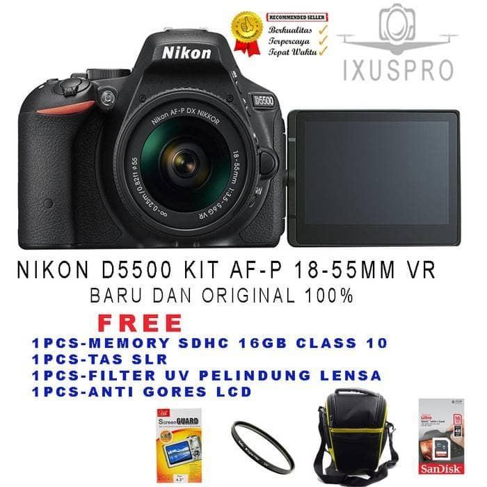 harga Nikon d5500 kit 18-55 vr ll / nikon d 5500 kit18-55 Tokopedia.com