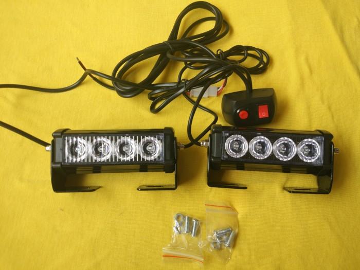 harga Strobo Led Flash Lampu Modul Sirine Biru Polisi Patwal 6 Mode Tokopedia.com