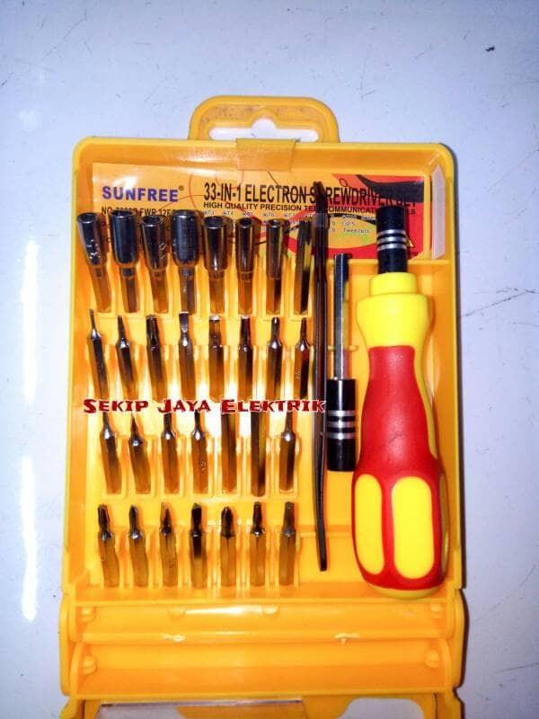 Obeng serbaguna multifungsi screwdriver sunfree 7030b fwr 32eb