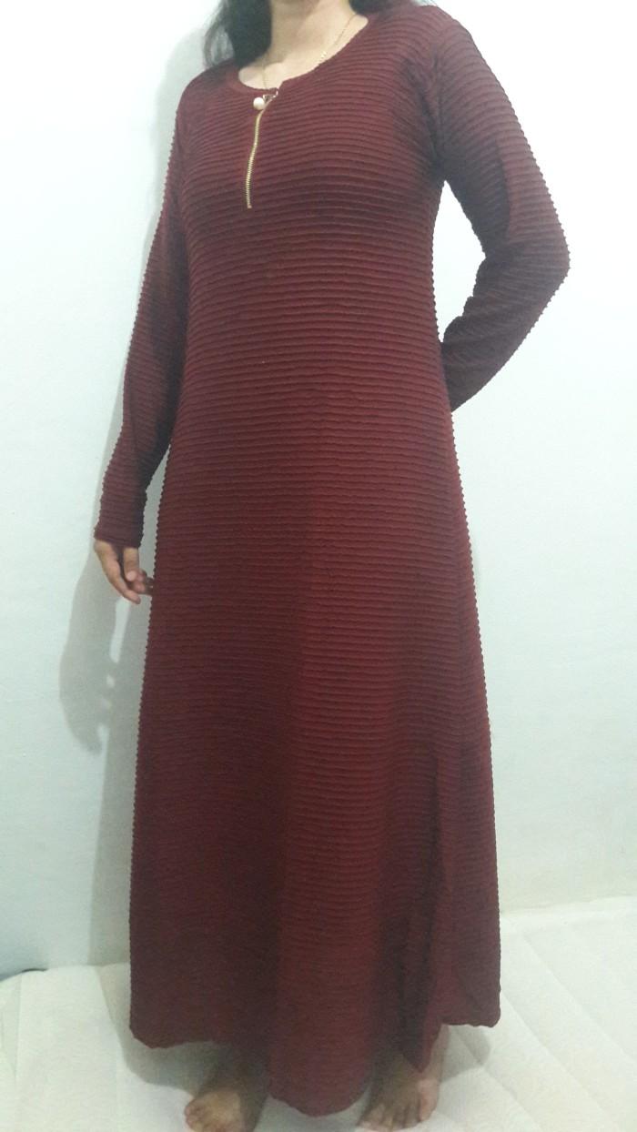 Jual Long Dress Maxi Daster Muslim Lengan Panjang Toko Longdress