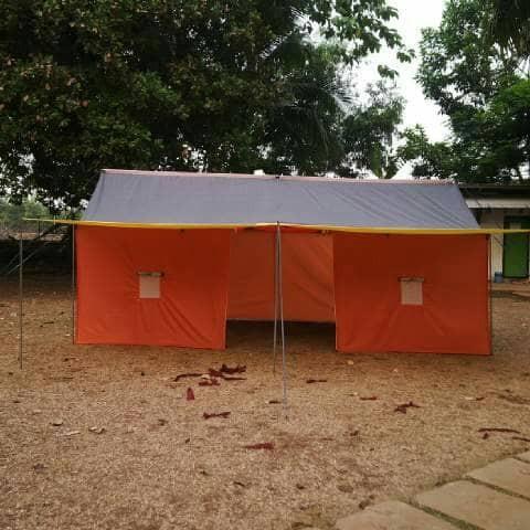 harga Tenda pramuka posko besar kap 16 siswa/14 dewasa bahan latex fullset Tokopedia.com
