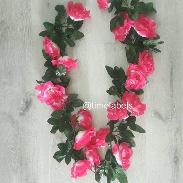 jual dekorasi bunga sulur mawar artificial / tanaman rambat plastik