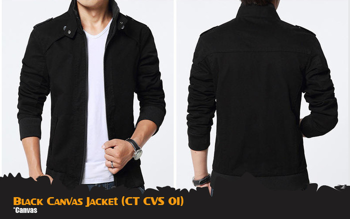 harga Jaket casual ct cvs 01 jaket casual pria canvas black Tokopedia.com