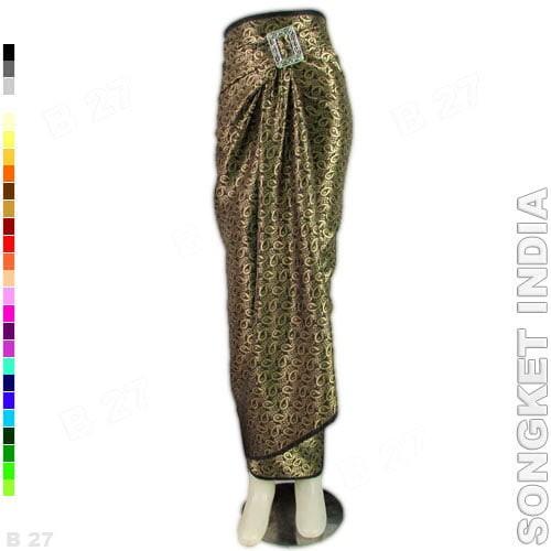 harga Rok lilit batik r1-11 bahan songket india - hitam Tokopedia.com