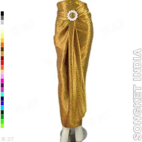 harga Rok lilit batik r1-19 bahan songket india - gold Tokopedia.com