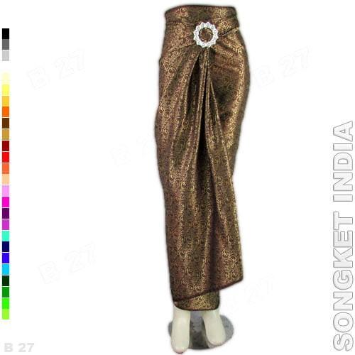 harga Rok Lilit Instan R1-74 Bahan Songket India - Coklat Tokopedia.com