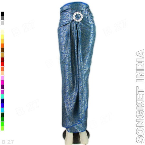 harga Rok lilit instan r1-72 bahan songket india - biru Tokopedia.com