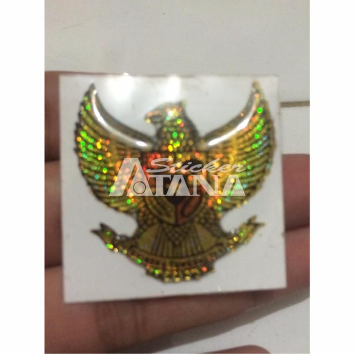 Jual Sticker Cutting Timbul Emblem Garuda Pancasila Kecil Kota