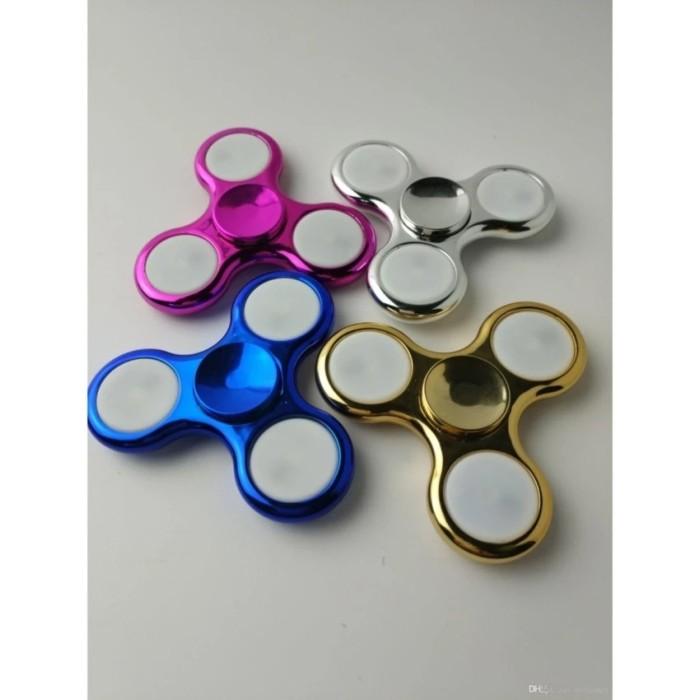 ANGEL-Fidget Spinner LED New Exotic Hand Toys Mainan Tri-Spinner EDC