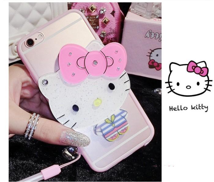 harga Casing cute 3d iphone 7/7plus soft mirror makeup case cartoon silicon Tokopedia.com