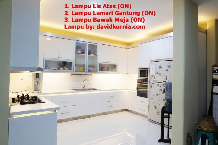 Jasa Pasang Lampu Led Strip Dapur Minimalis Terang Modern