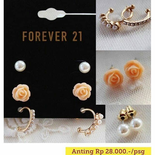 Anting wanita fashion perhiasan import korea style modis trendy