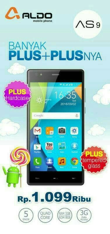 harga Promo hp android aldo as 9 as9 ram 1gb/8 . handphone smartphone murah Tokopedia.com