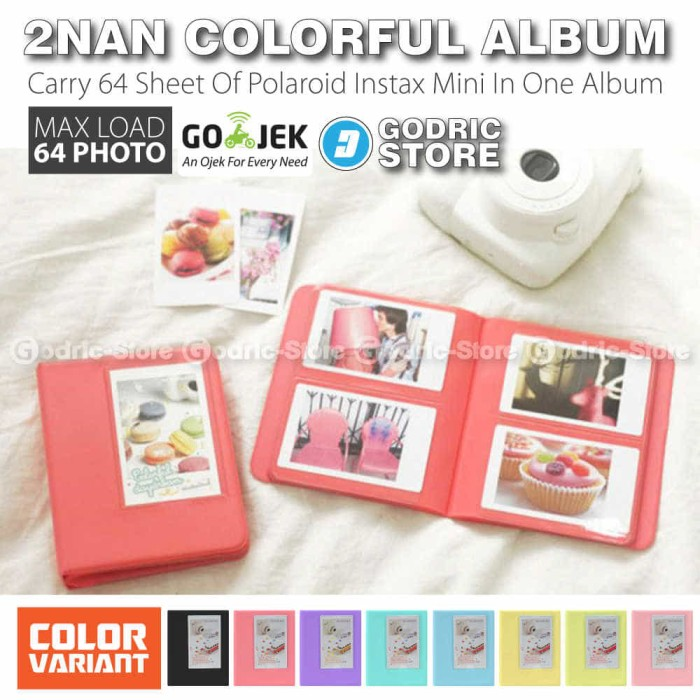 harga Album 2nan Colorful 64 Foto Fujifim Instax Mini Polaroid 8/9/90/sp Etc Tokopedia.com