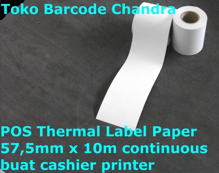 harga Pos thermal label paper 575mm x 10m continuous buat cashier printer Tokopedia.com