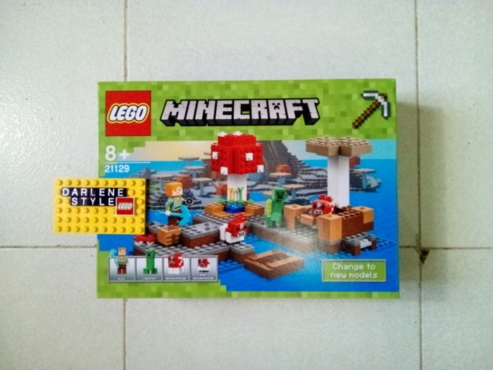 Jual Lego MINECRAFT 21129 The Mushroom Island - Darlene Style ...