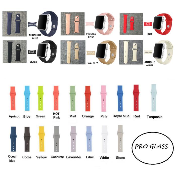 Foto Produk Apple Watch iWatch 42mm rubber Sport Strap Band Premium series 1/2/3 dari Pro Glass
