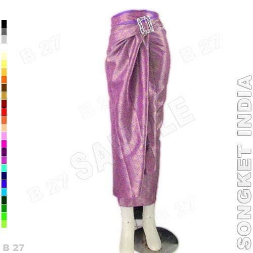 harga Rok lilit kebaya r1-31 bahan songket india - ungu muda Tokopedia.com