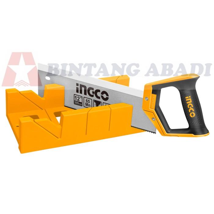 harga Ingco gergaji figura 12  manual / back saw mitre box set - hmbs3001 Tokopedia.com