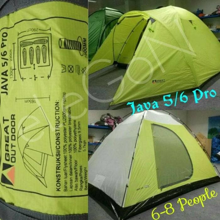 Tenda GO GREAT OUTDOOR JAVA 5/6 (6-8 Orang) Waterproof Double Layer