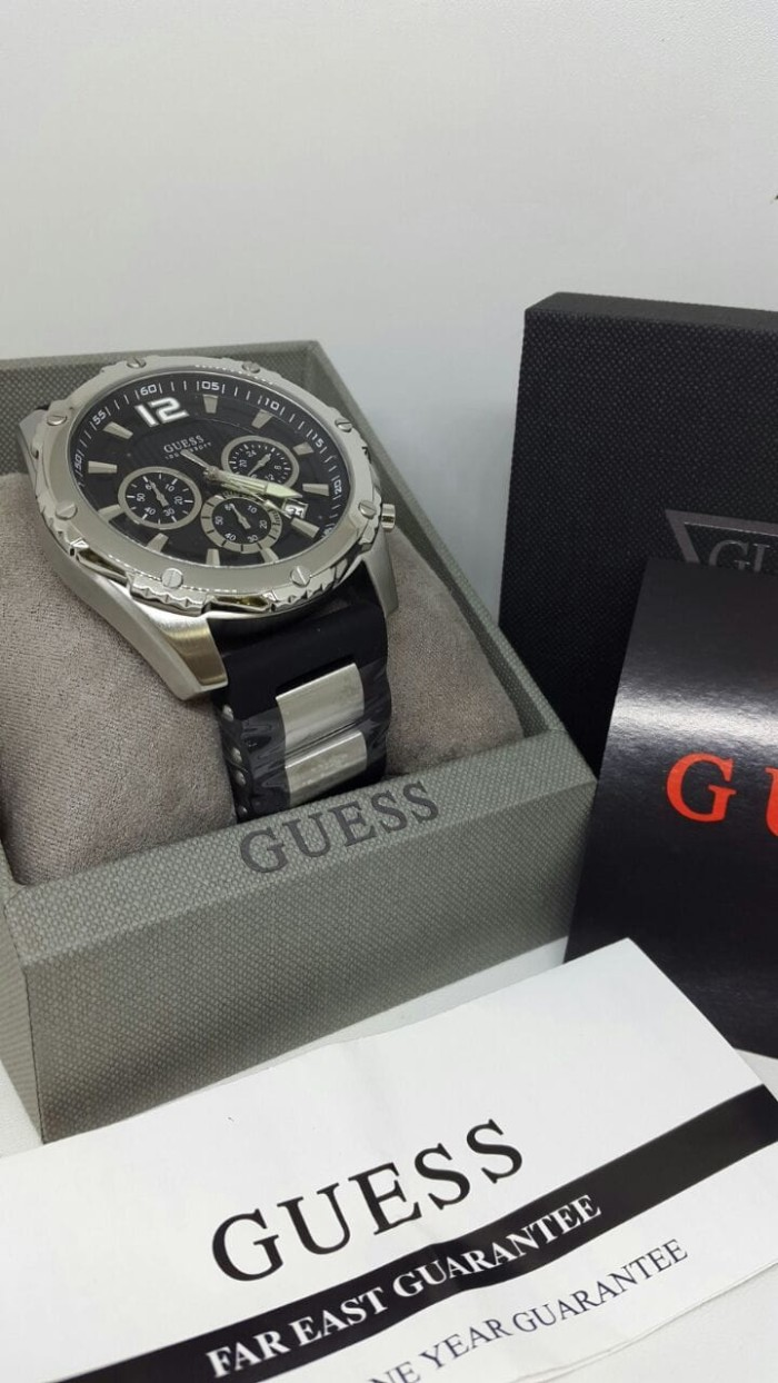 Guess W0599g2 Velocity Jam Tangan Pria Rubber Chronograph W0598g2 Stainless Stee W0167g1 Original
