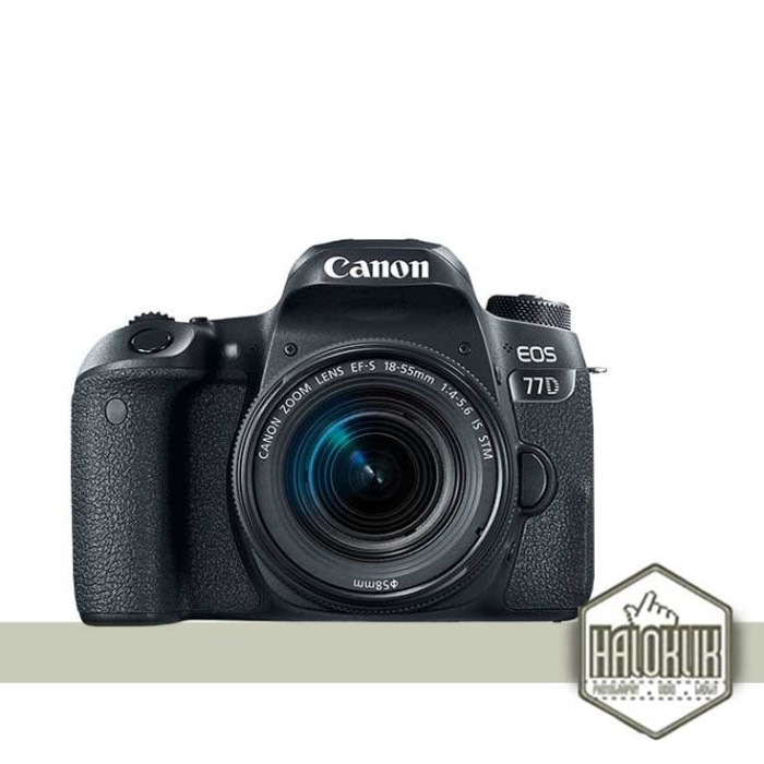 harga Canon eos 77d kit 18-55mm is stm - kamera slr black Tokopedia.com