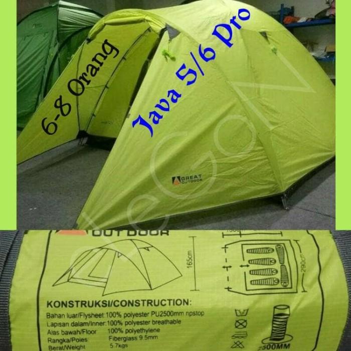 Tenda Great Outdoor GO Java 6 - 8 Orang Double Layer Waterproof Ori