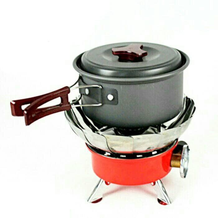 Kompor Gas Kembang Mini Portable Windproof Kompor Camping / Hiking