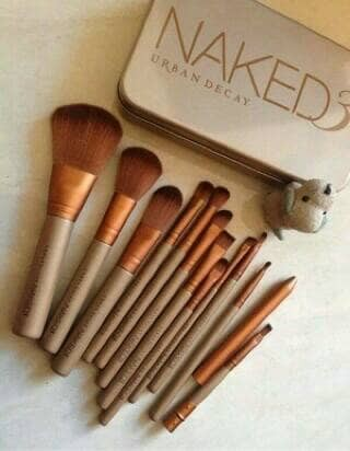 harga Make up brush naked 3 set kit alat paras kecantikan isi 12 kuas Tokopedia.com