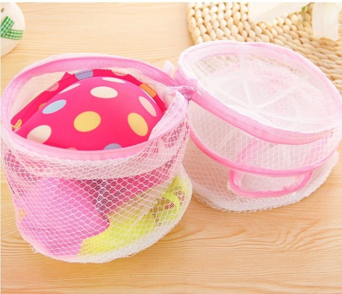 Folding Nylon Bra Washing Laundry Bags Kantong Cuci Bra Celana Dalam .