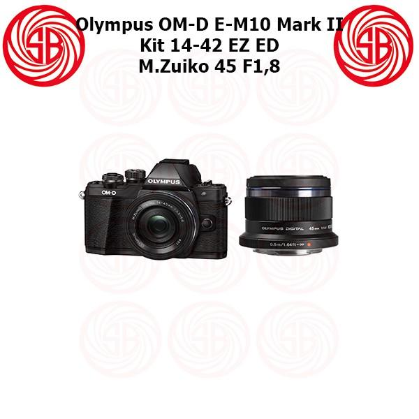 harga Kamera olympus om-d e-m10 mark 2 + 14-42 ez + 45mm ; em 10 m2 kit em10 Tokopedia.com