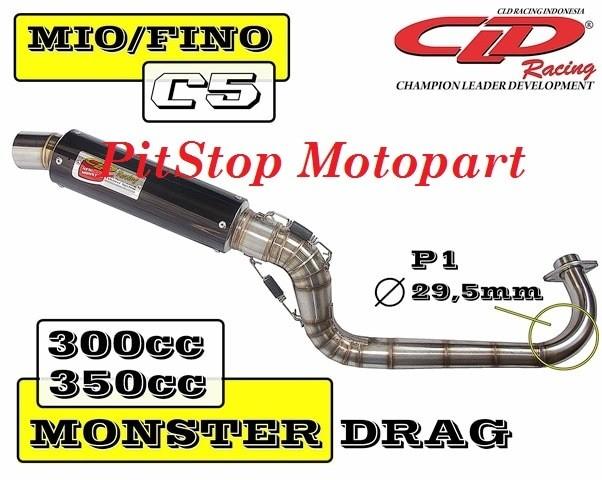 harga Knalpot mio/fino cld type c5 drag race 300-350 cc Tokopedia.com
