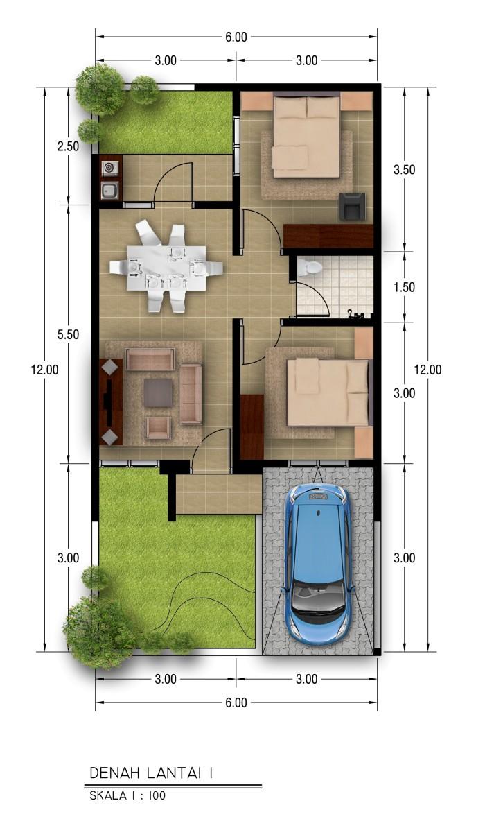 Jual Desain Rumah Type 36 Kota Bandung Arsinubia Tokopedia