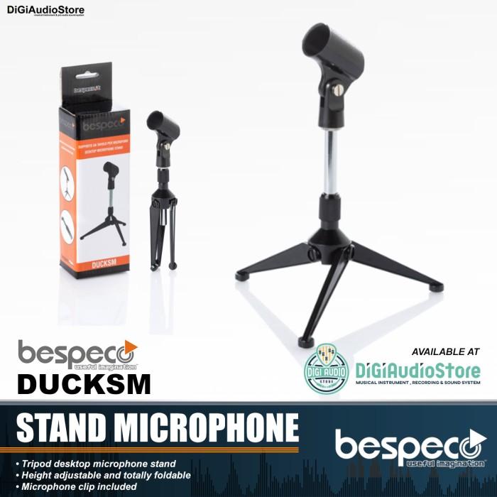 harga Stand mic meja bespeco ducksm / stand table microphone / tripod mini Tokopedia.com