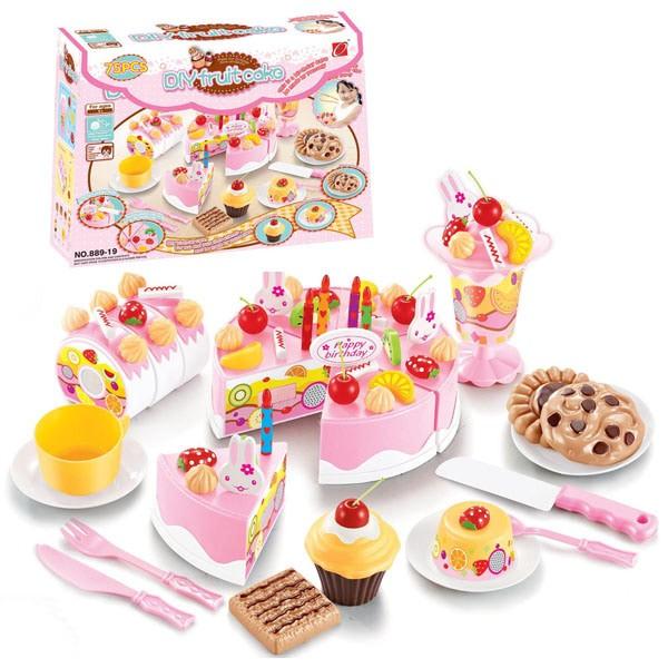 Foto Produk DIY FRUIT CAKE PINK BESAR - MAINAN ANAK PEREMPUAN dari ANEKA MAINAN ONLINE