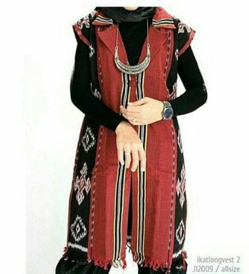 harga Outer vest coat cardigan baju tenun blanket etnik batik modern Tokopedia.com