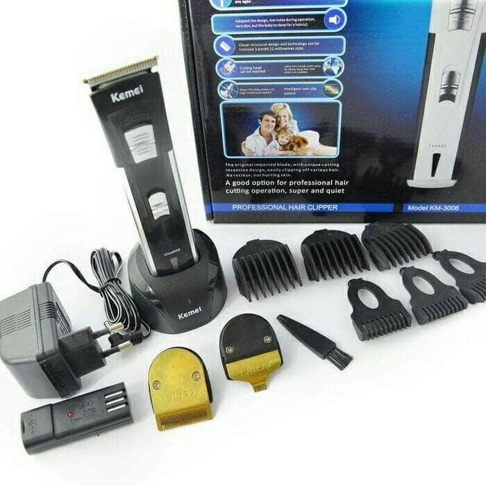 harga Kemei km-3006 rechargeable alat cukur rambut - kumis - jenggot  Tokopedia.com a2657b5754